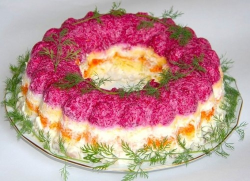 торт с сельдью