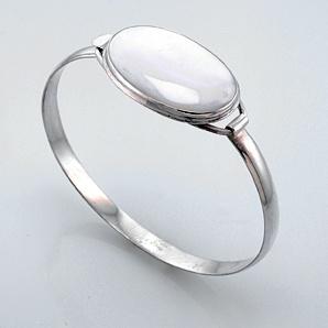 кольцо с перламутром