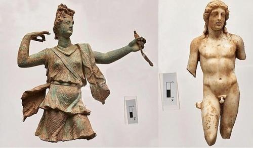 Статуи Артемиды и Аполлона из Аптеры. Фото: Министерство культуры Греции.